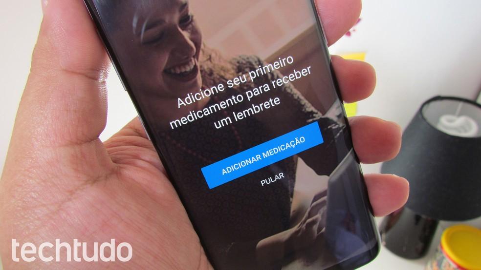 Medisafe announces the time to take medicine Photo: Paulo Alves / TechTudo