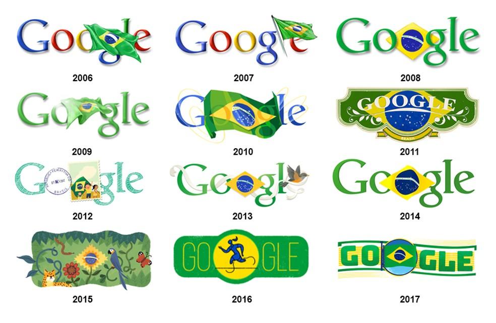 All doodles commemorating the date since 2006 Photo: Reproduo / Google; Editing / Ana Letcia Loubak