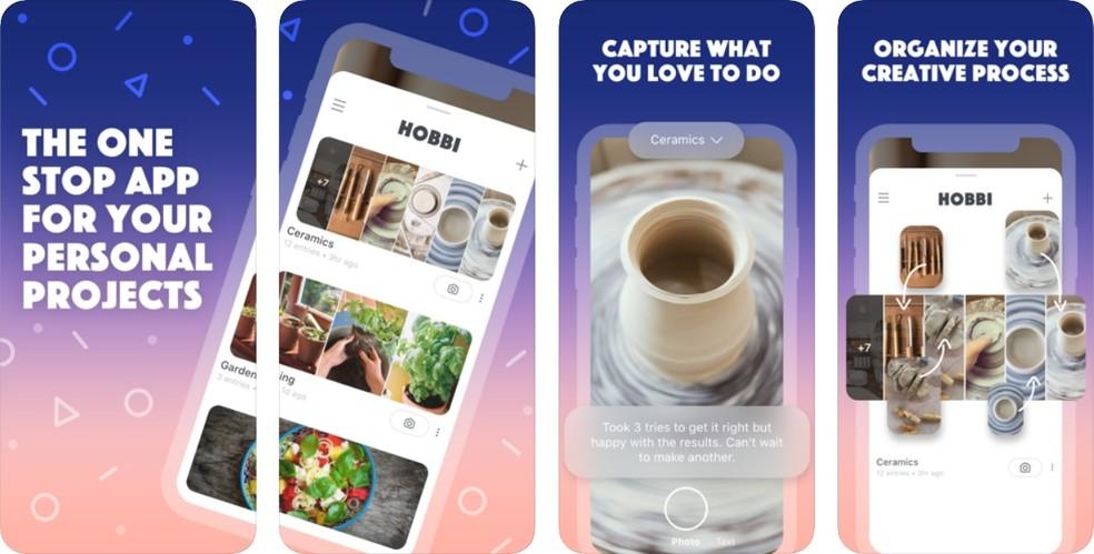 Facebook lana Hobbi, Pinterest's 'copy' app Photo: Reproduo / App Store