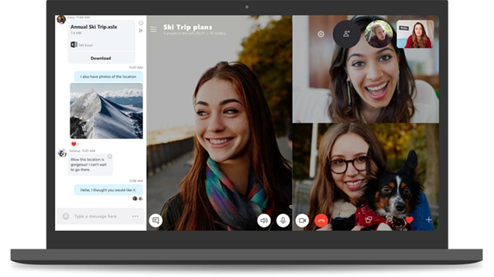 Microsoft debuts new Skype for PC and promises call recording Photo: Divulgao / Microsoft