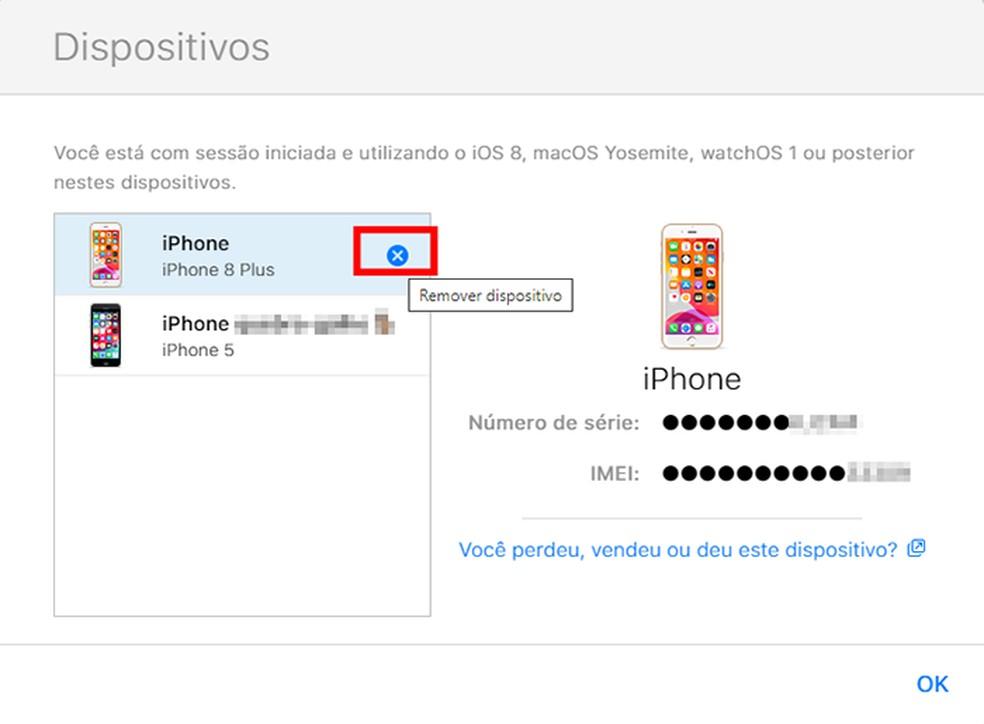 Ending the Apple ID session via iCloud on the computer Photo: Reproduo / Tatiane Mota
