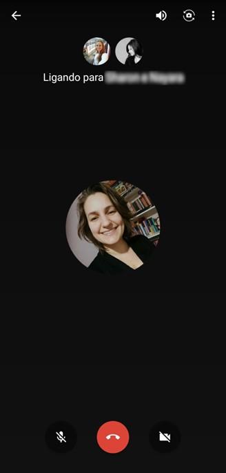 Google Hangouts video call screen