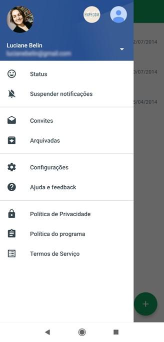 Mobile version menu