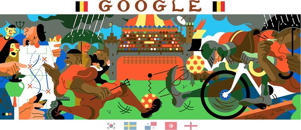 Belgium doodle shows animated football game Photo: Reproduo / Google