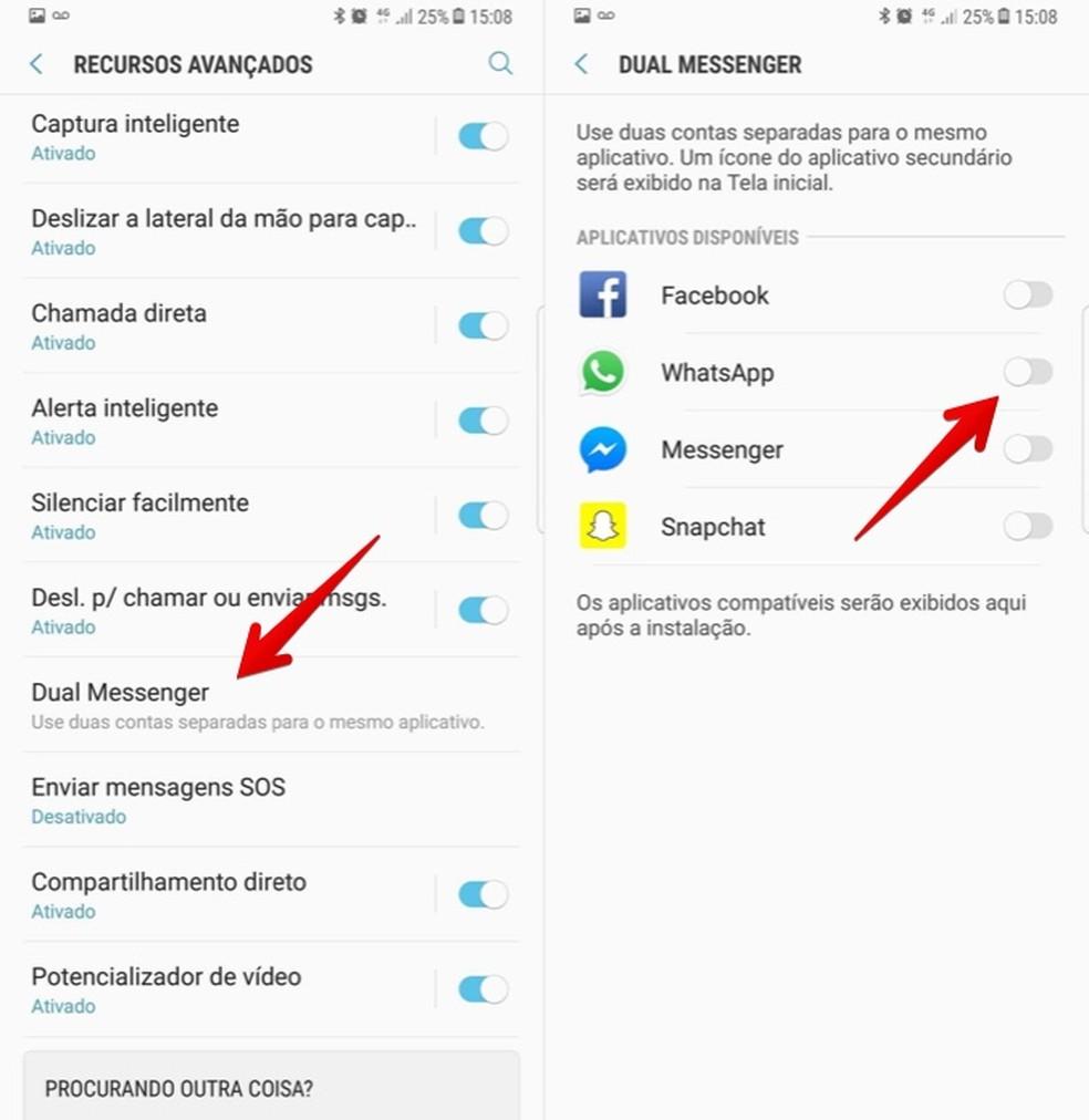 Activate the Dual Messenger option for WhatsApp Photo: Reproduo / Helito Bijora