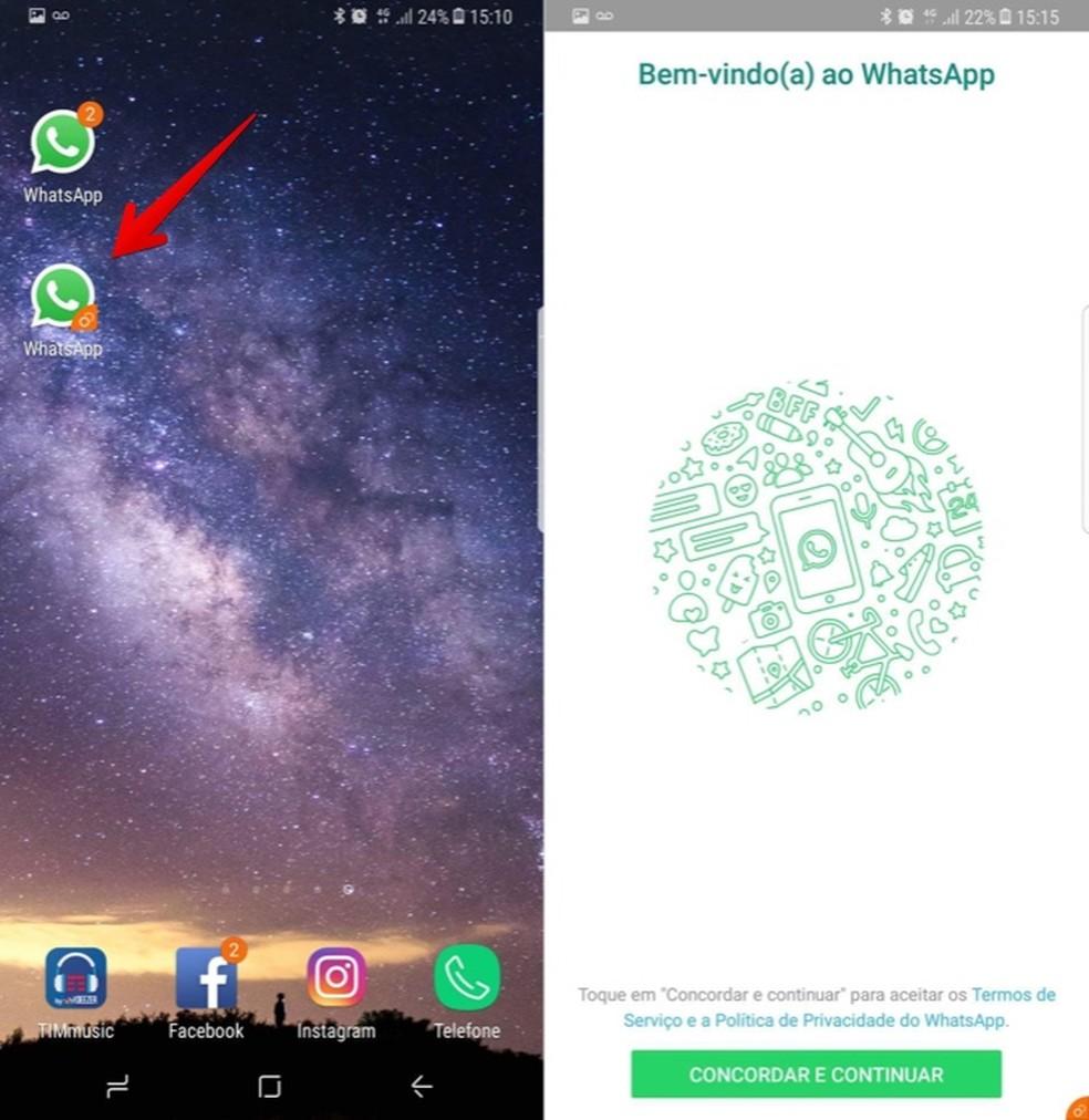 Using two WhatsApp numbers on Samsung's cell phone Photo: Reproduo / Helito Bijora
