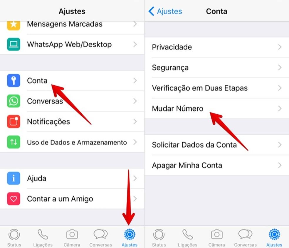 Open WhatsApp settings Photo: Reproduction / Helito Bijora