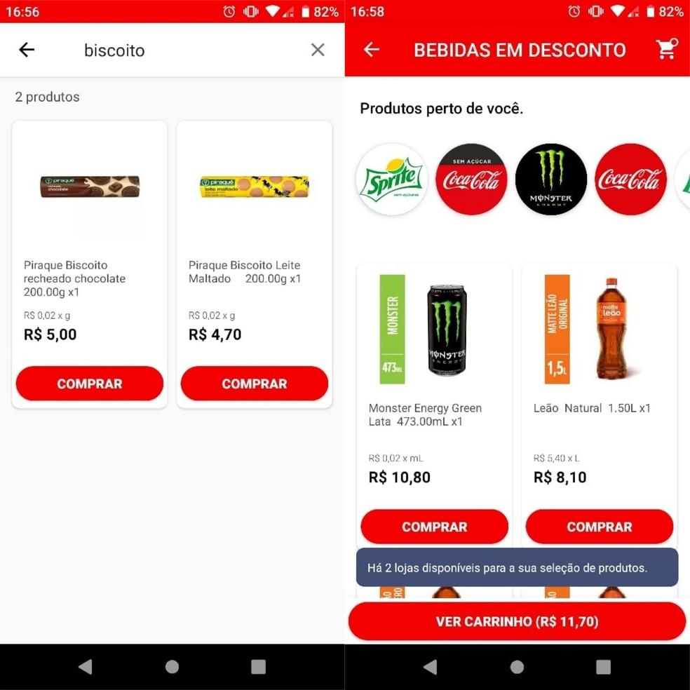 """Click """"Buy"""" to add products to Wabi's shopping cart Photo: Reproduo / Clara Fabro"""