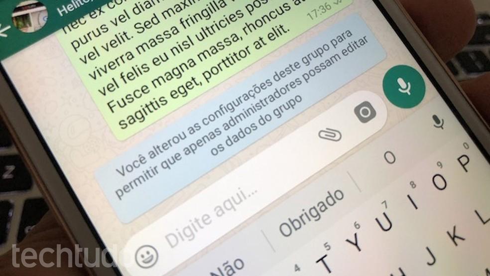 WhatsApp Beta allows you to restrict edits in groups Photo: Helito Bijora / dnetc