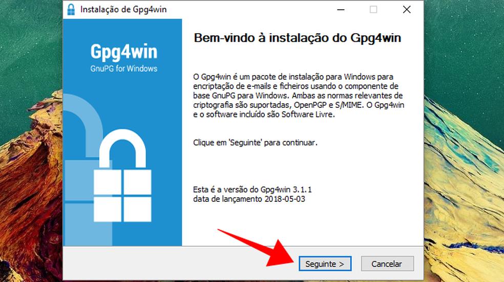 Download the security protocol installer Photo: Reproduo / Paulo Alves