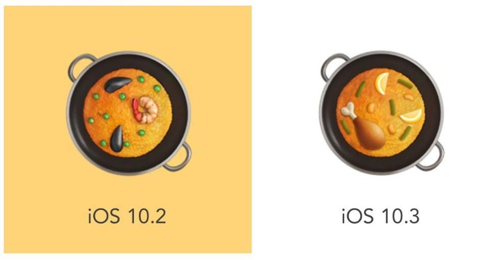 Paella ingredients in iOS emoji have been replaced Photo: Reproduo / Emojipedia