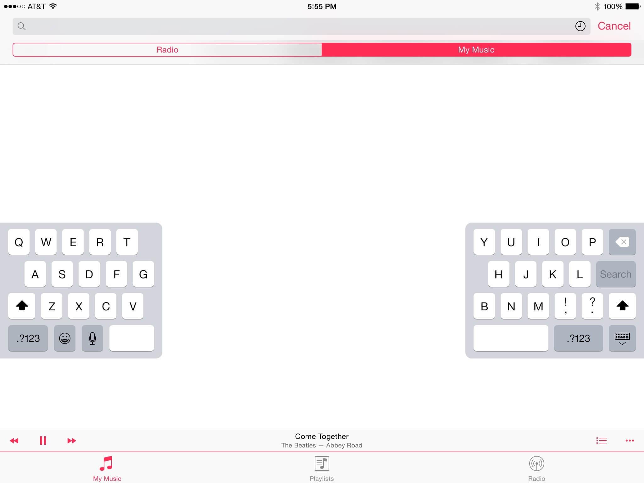App Music on iOS 8.4