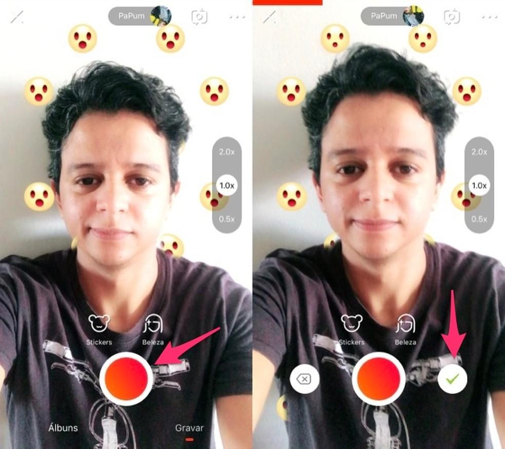 Record a video with the Vigo Video app Photo: Reproduo / Marvin Costa