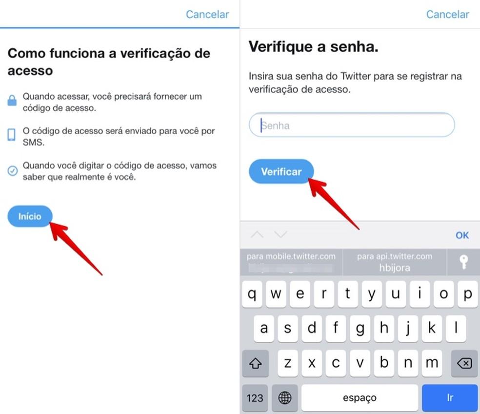 Confirm your Twitter password Photo: Reproduo / Helito Bijora
