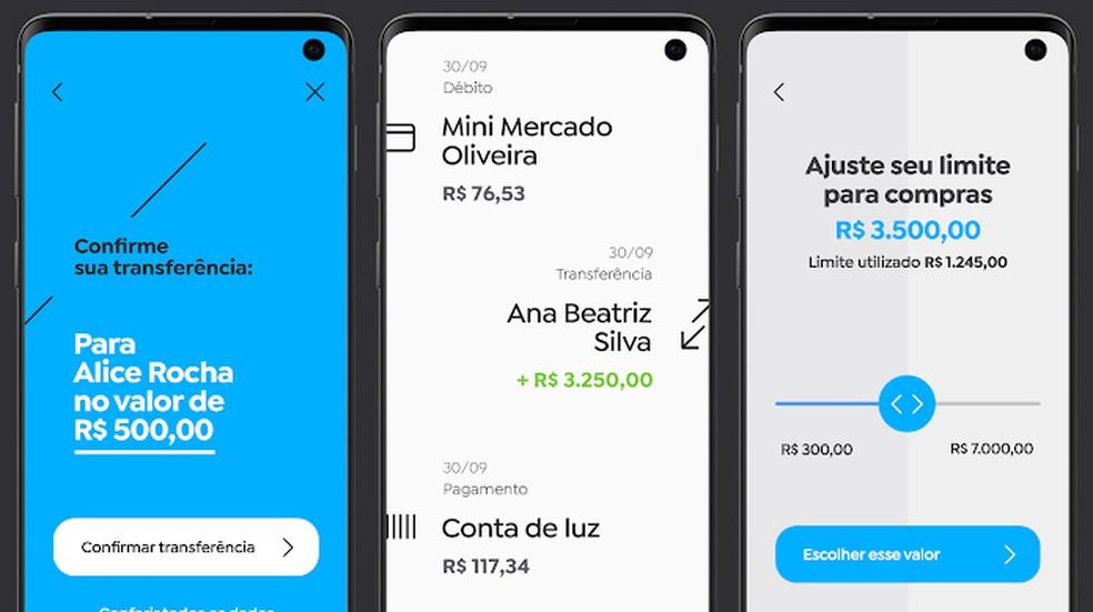 Banco Pan allows you to make transfers, check balance and adjust limit through the application Photo: Divulgao / Banco PAN