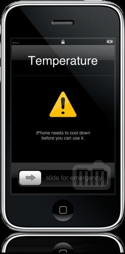 IPhone temperature warning