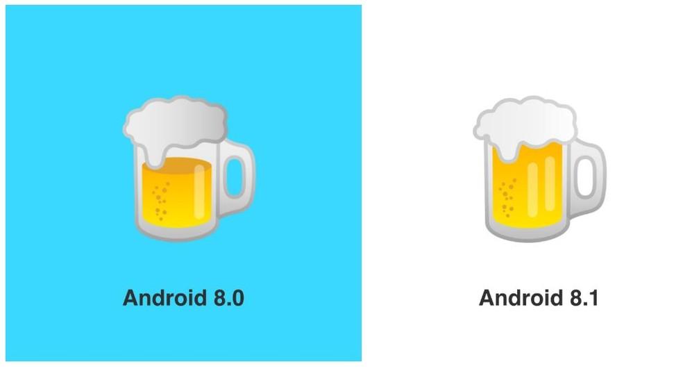 Google's beer emoji has also been redone Photo: Reproduction / Emojipedia