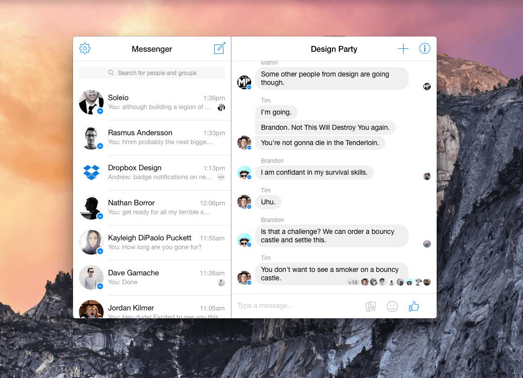 Messenger for OS X