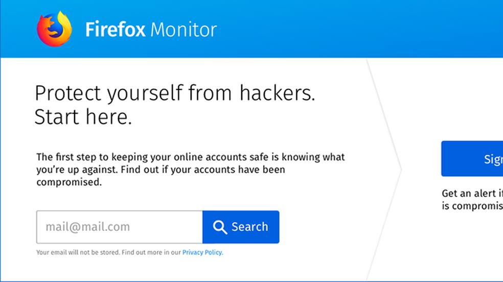 Firefox Monitor allows to consult leaked data Photo: Divulgao / Mozilla