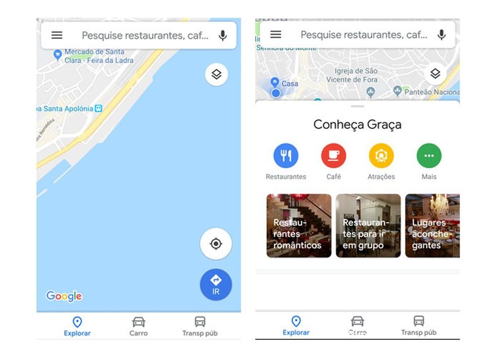 New look for Google Maps Photo: Reproduo / Taysa Coelho
