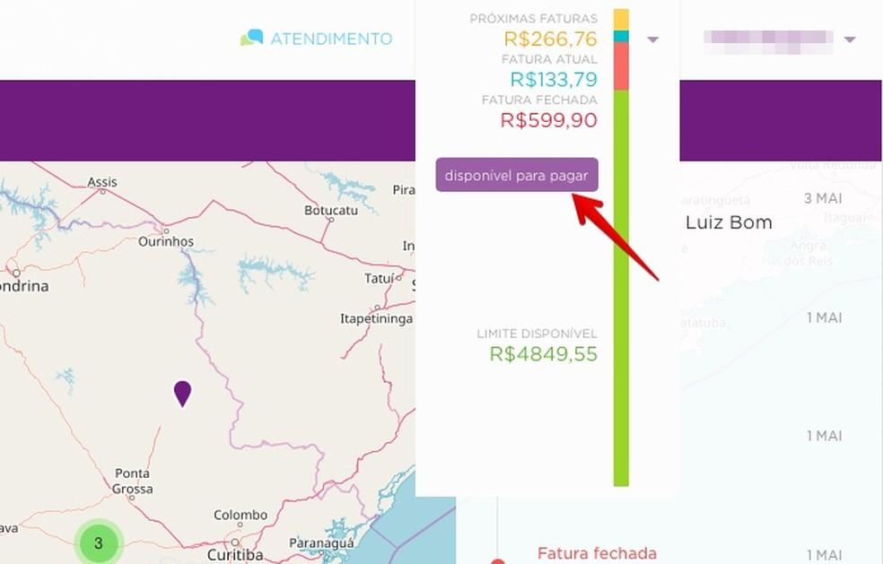 Open your Nubank MS invoice on the web Photo: Reproduo / Helito Bijora