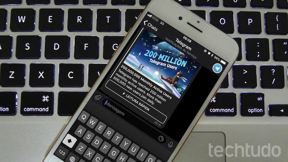 Learn to edit photos already sent on Telegram Photo: Helito Bijora / TechTudo