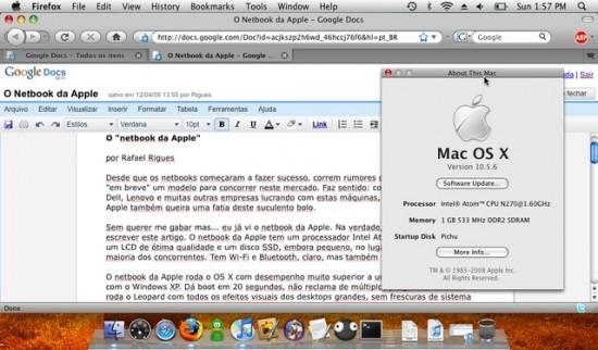 Mac OS X on a Dell Mini 9