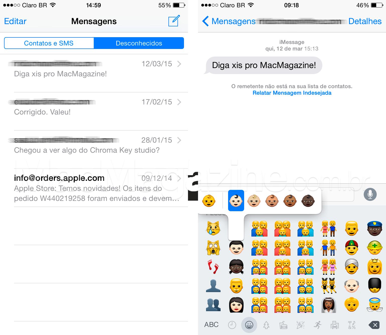 IOS 8.3 beta 4 screenshots