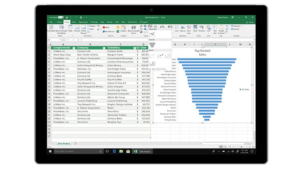 Microsoft promises smarter Excel in Office 2019 Photo: Divulgao / Microsoft