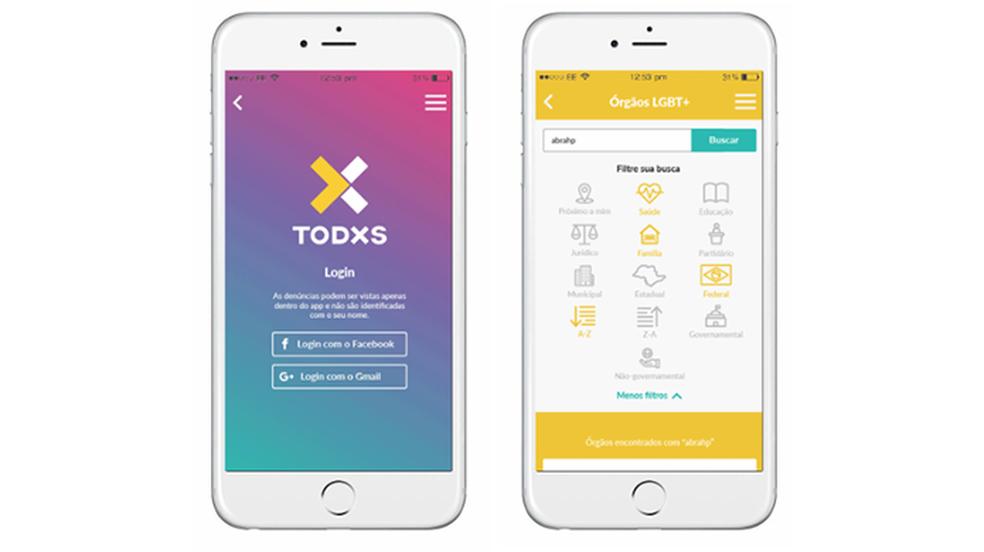 TODXS app helps to report cases of LGBT phobia Photo: Divulgao / TODXS