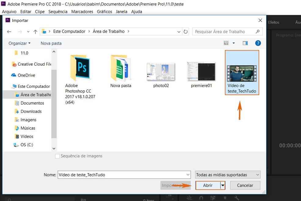 Find the video to convert to Adobe Premiere Photo: Reproduo / Barbara Mannara