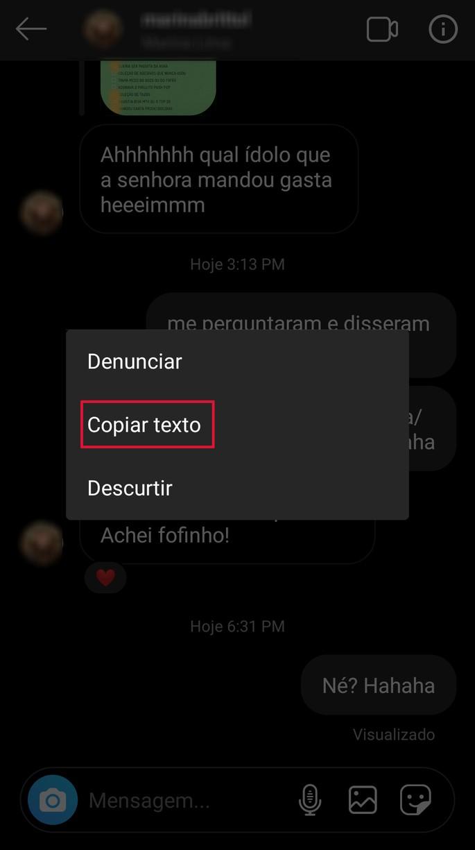 copy text instagram