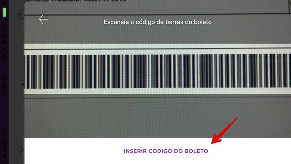 Scan the billet barcode Photo: Reproduo / Helito Bijora