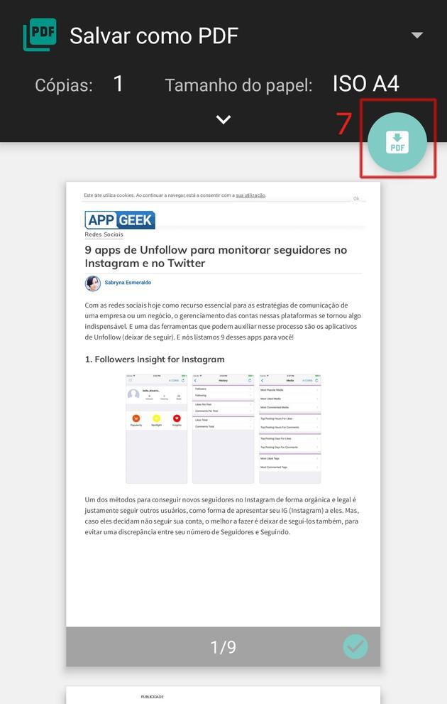 Download PDF site on Edge mobile