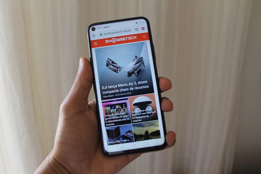 Screen with Showmetech Huawei Nova 5T website