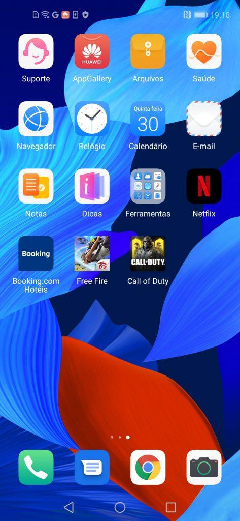 Huawei nova 5T interface