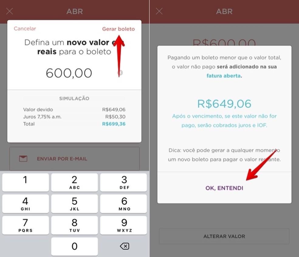 Generating a bill with partial invoice value Photo: Reproduo / Helito Bijora