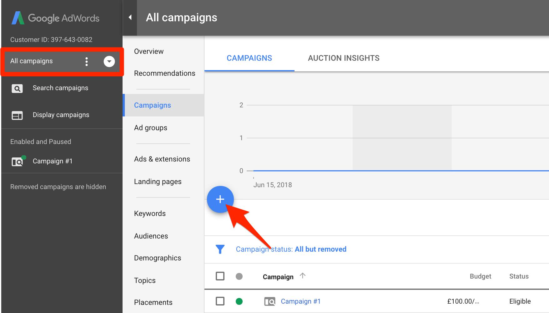 YouTube ad campaign via Google AdWords