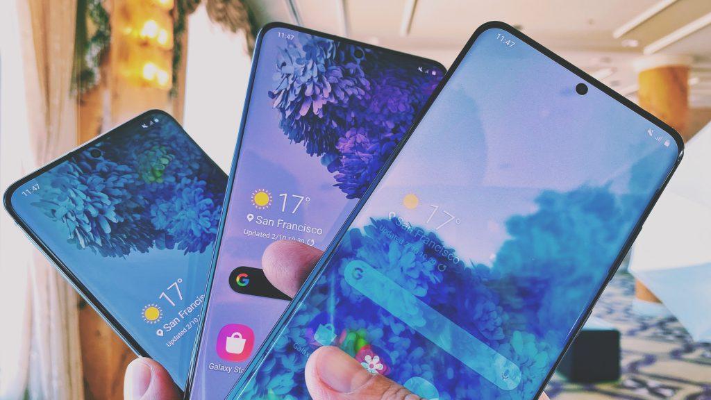 Samsung S20 line smartphones