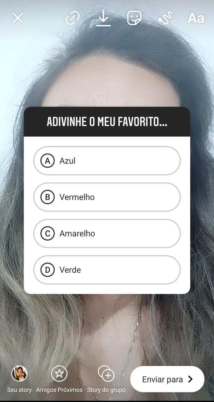 Poll on Instagram