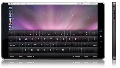 Apple netbook mockup