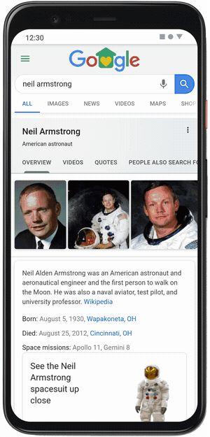 Google AR   Neil Armstrong