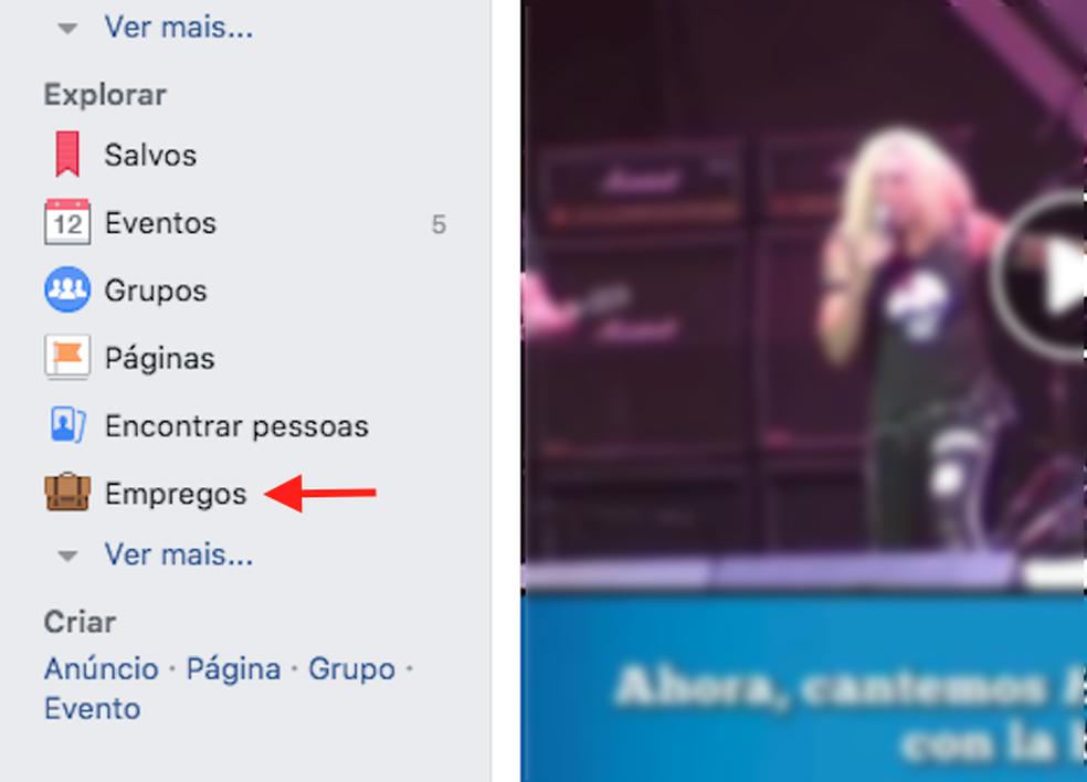 When to access the Facebook jobs platform Photo: Reproduo / Marvin Costa