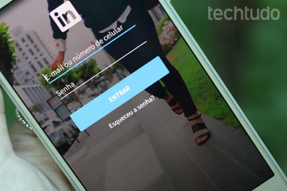 Linkedin has Bluetooth function Photo: TechTudo / Aline Batista