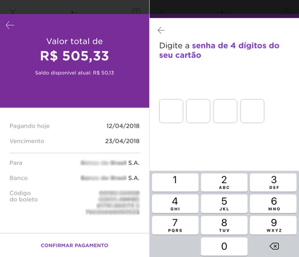 Confirming payment of boleto Photo: Reproduo / Helito Bijora
