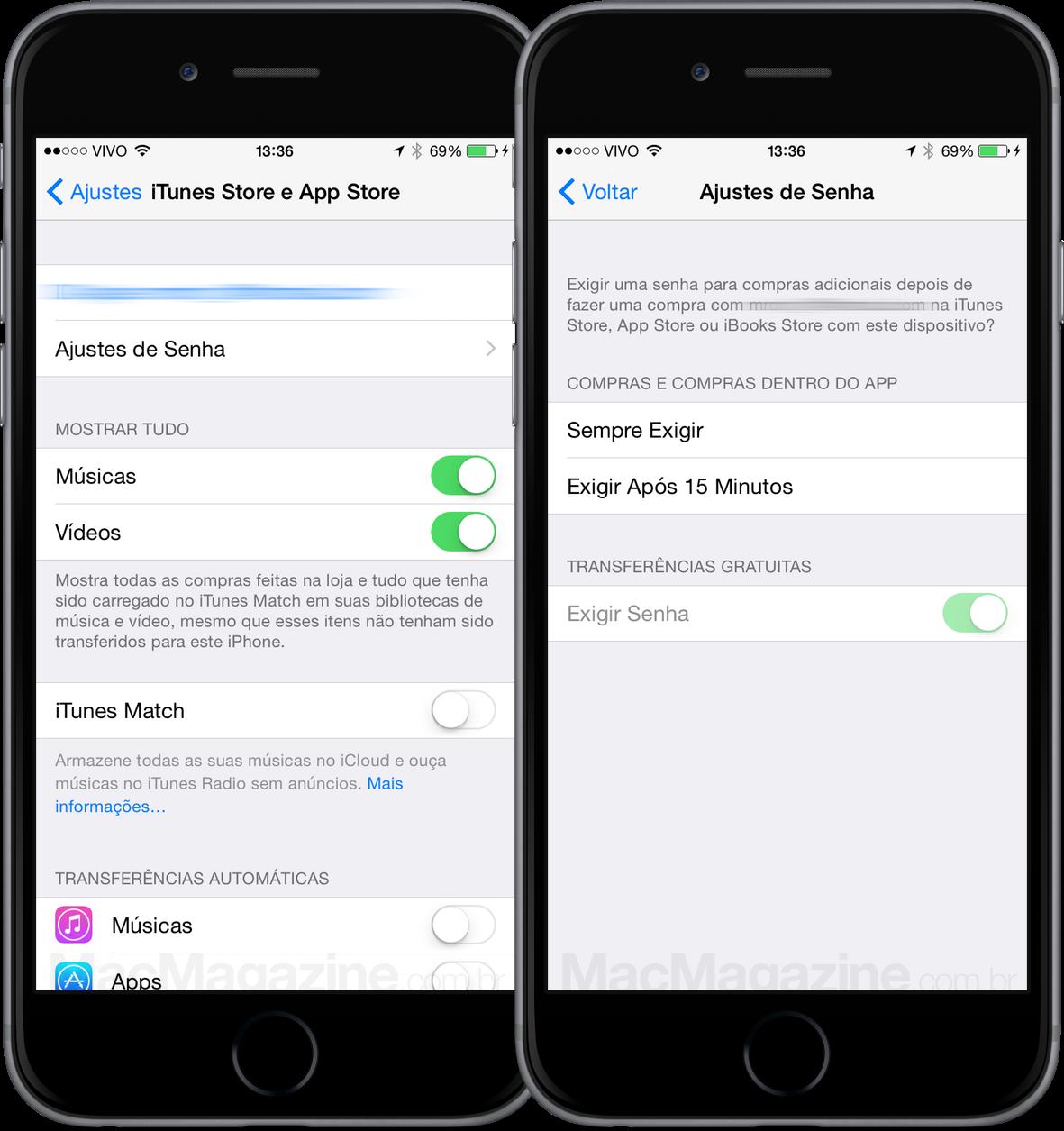 New password option in iOS 8.3