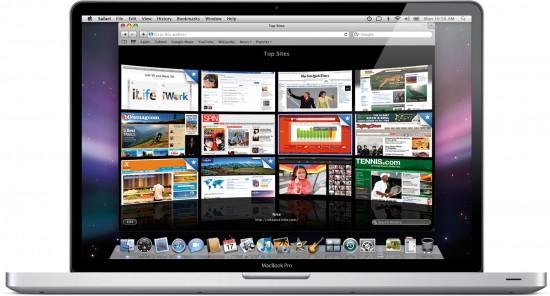 17-inch MacBook Pro running Safari 4 Public Beta
