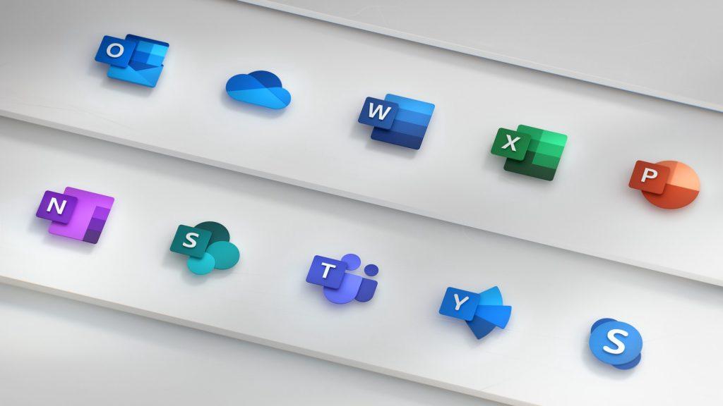 Microsoft 365 app icons