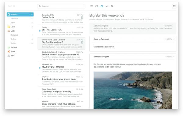 Mailbox app for OS X