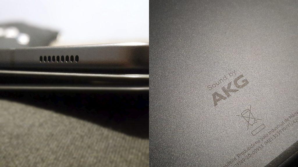 samsung tab s6 lite speakers and AKG detail
